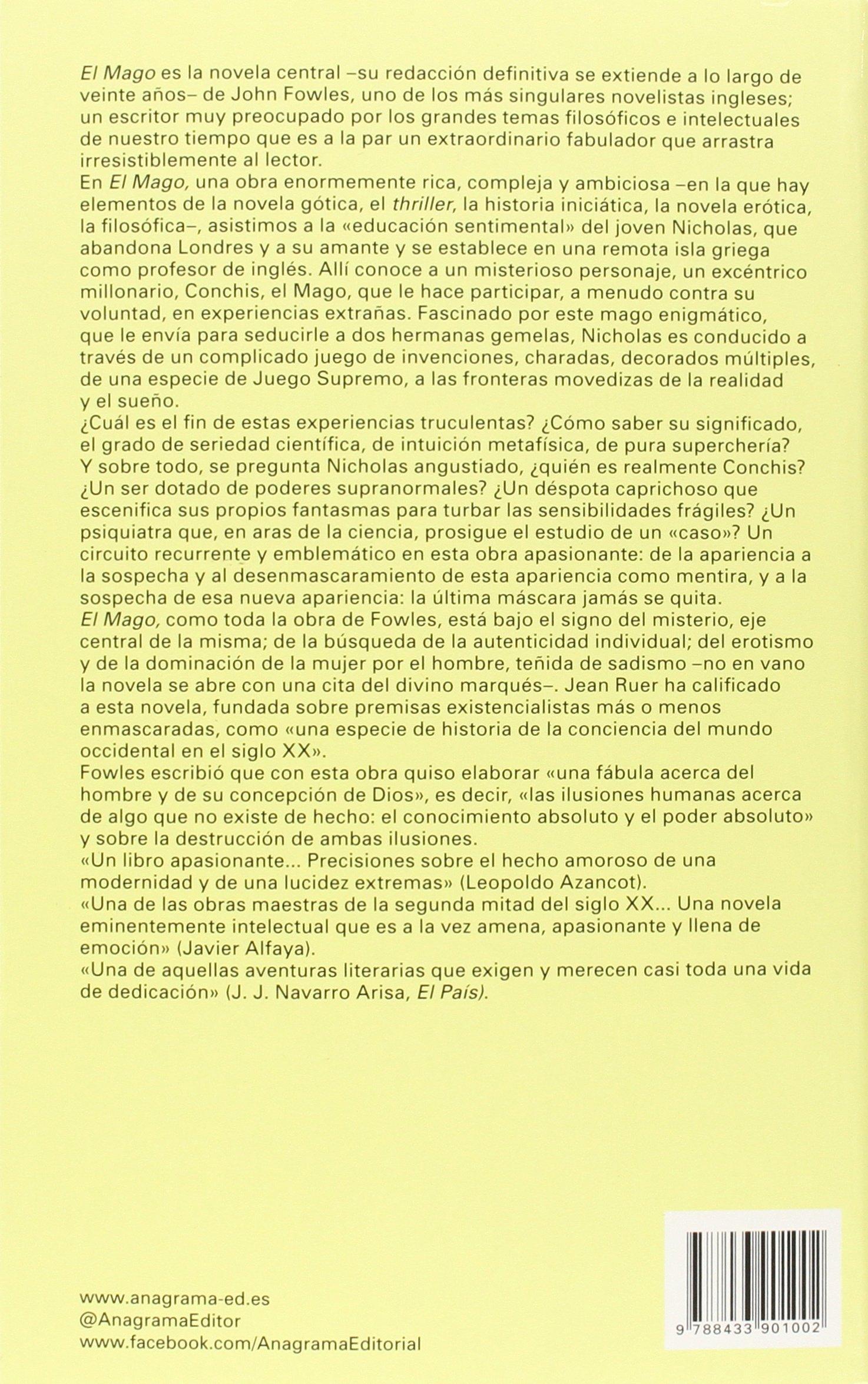 El Mago (Panorama de narrativas): Amazon.es: John Fowles, Enrique Hegewicz: Libros