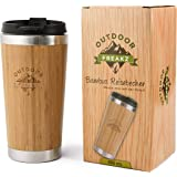 OUTDOOR FREAKZ Tasse Mug de Voyage en Acier Inoxydable et Bambou
