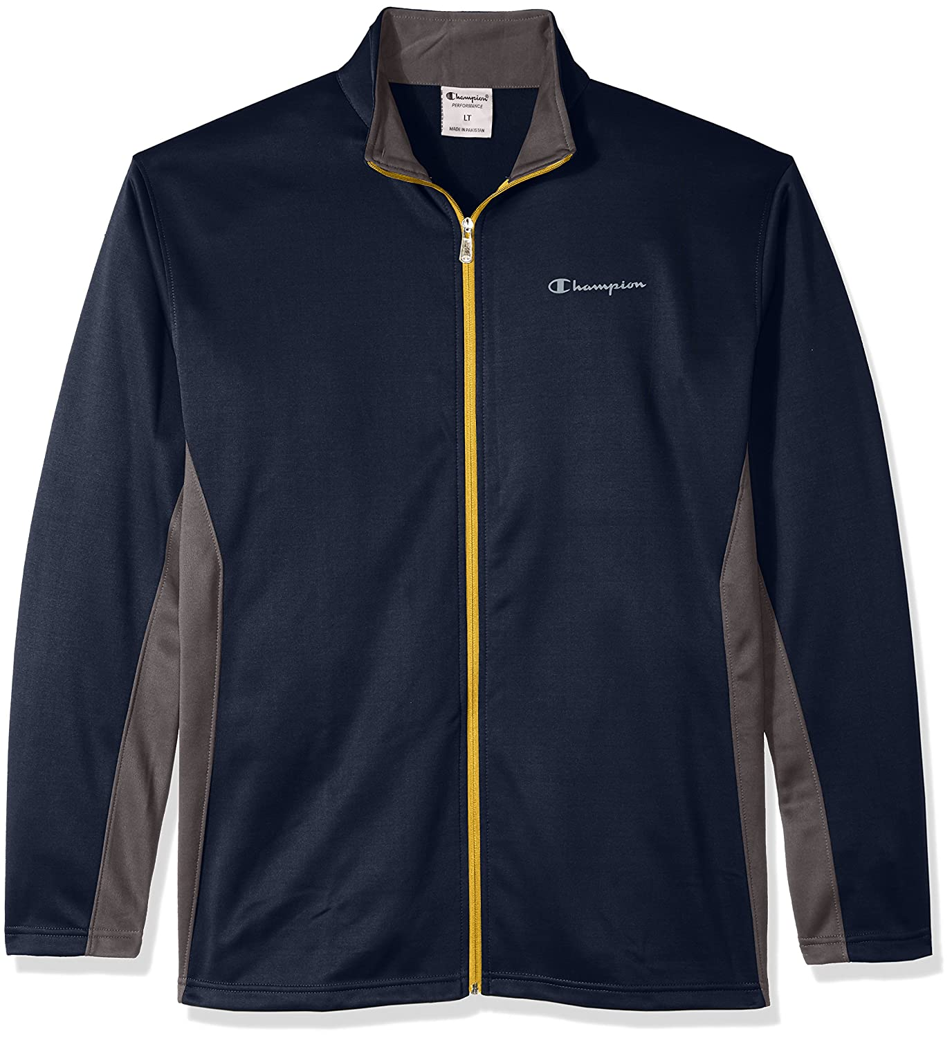 Champion Mens Big and Tall Full C-Vapor with Side Panel Contrast Zip