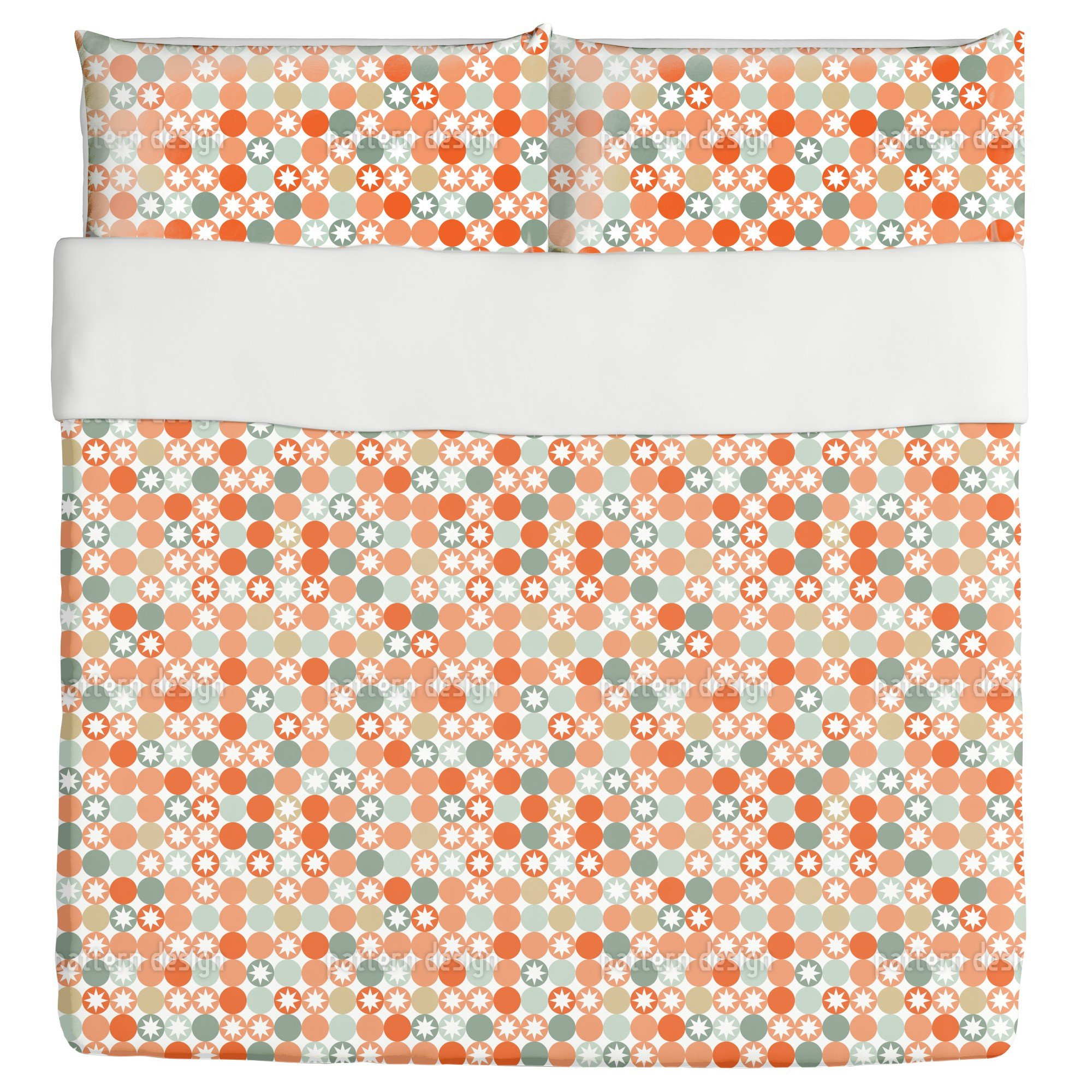 Autumnal Star Bingo Duvet Bed Set 3 Piece Set Duvet Cover - 2 Pillow Shams - Luxury Microfiber, Soft, Breathable by uneekee
