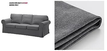 Amazon.com: IKEA - Funda para sofá Ektorp, color gris oscuro ...