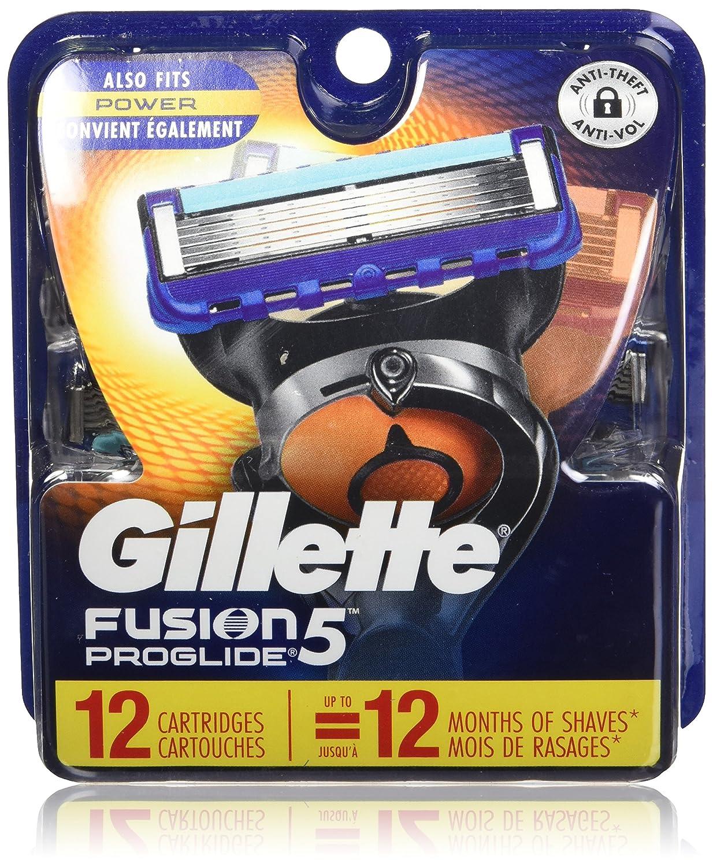Gillette Fusion5 ProGlide Men's Razor Blades – 12 Refills NA