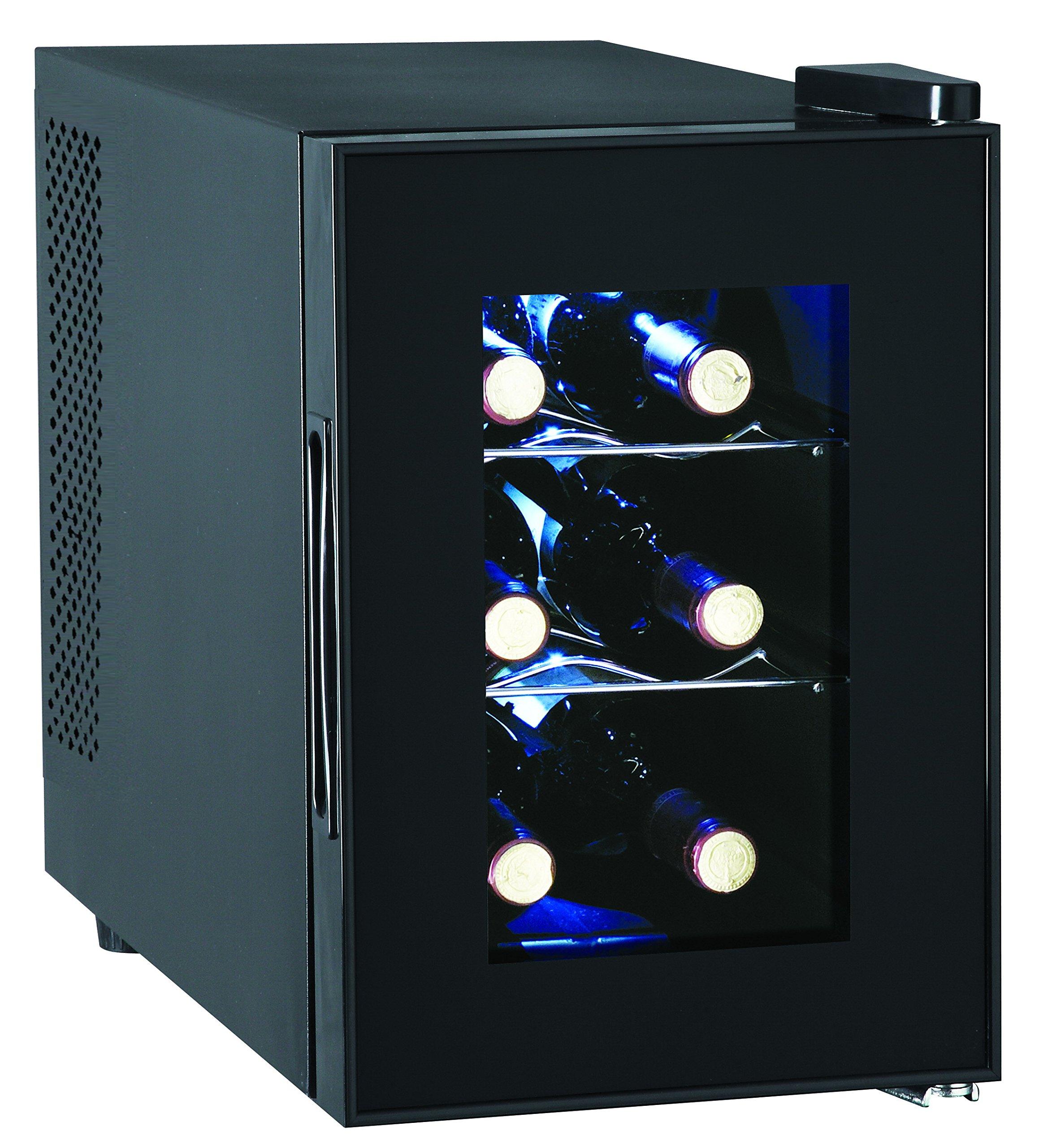 6-Bottle Wine Cooler, Glass Door by RCA