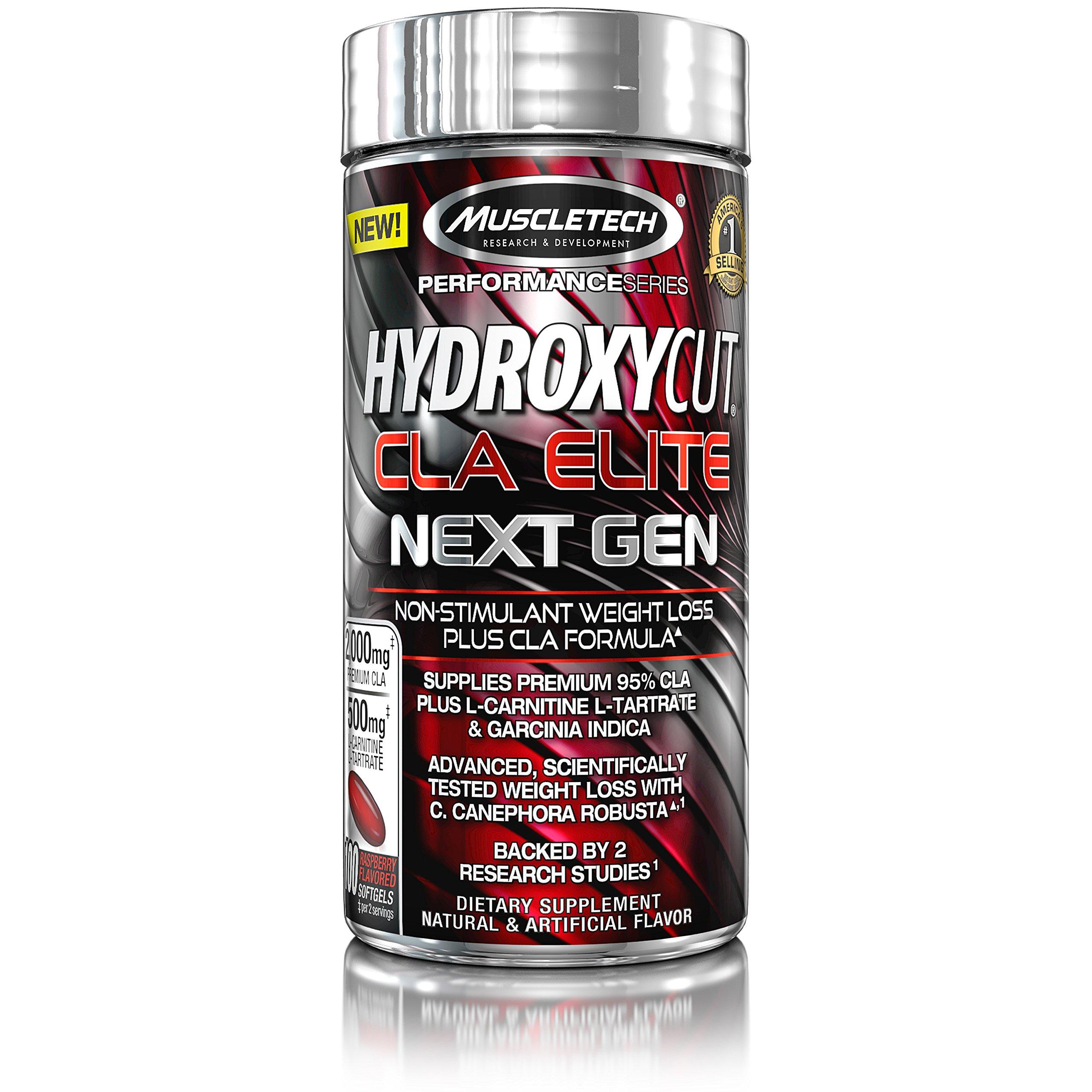 MuscleTech Hydroxycut CLA Elite Next Gen, Non Stimulant Weight Loss Plus CLA Formula, 100 Count