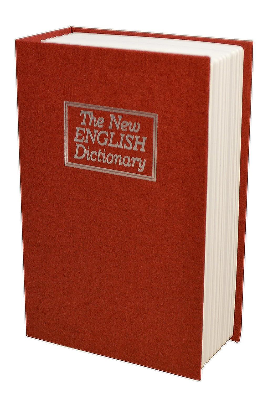 Safehaus The New English Dictionary livre Secret pour clé s   deux touches inclus, rouge
