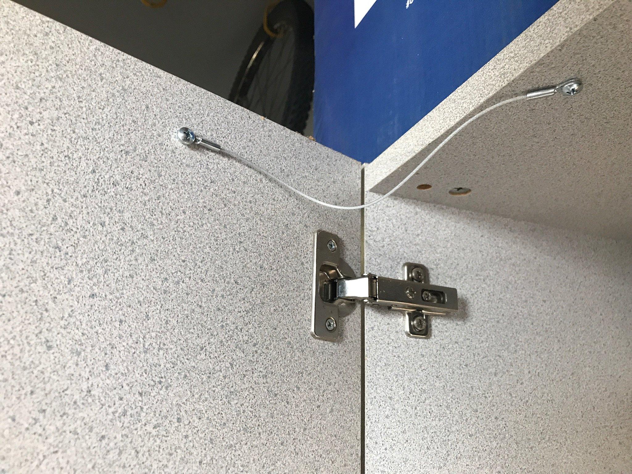 4 PACK Cabinet Door Restraint Kit 9 Inch Cupboard Door Limiter Window Limiter & 4 PACK Cabinet Door Restraint Kit 9 Inch Cupboard Door Limiter ...