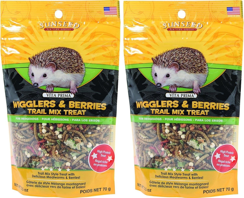 Sunseed Company-Vita Prima Hedgehog Treat-Wigglers & Berries 5 Ounce