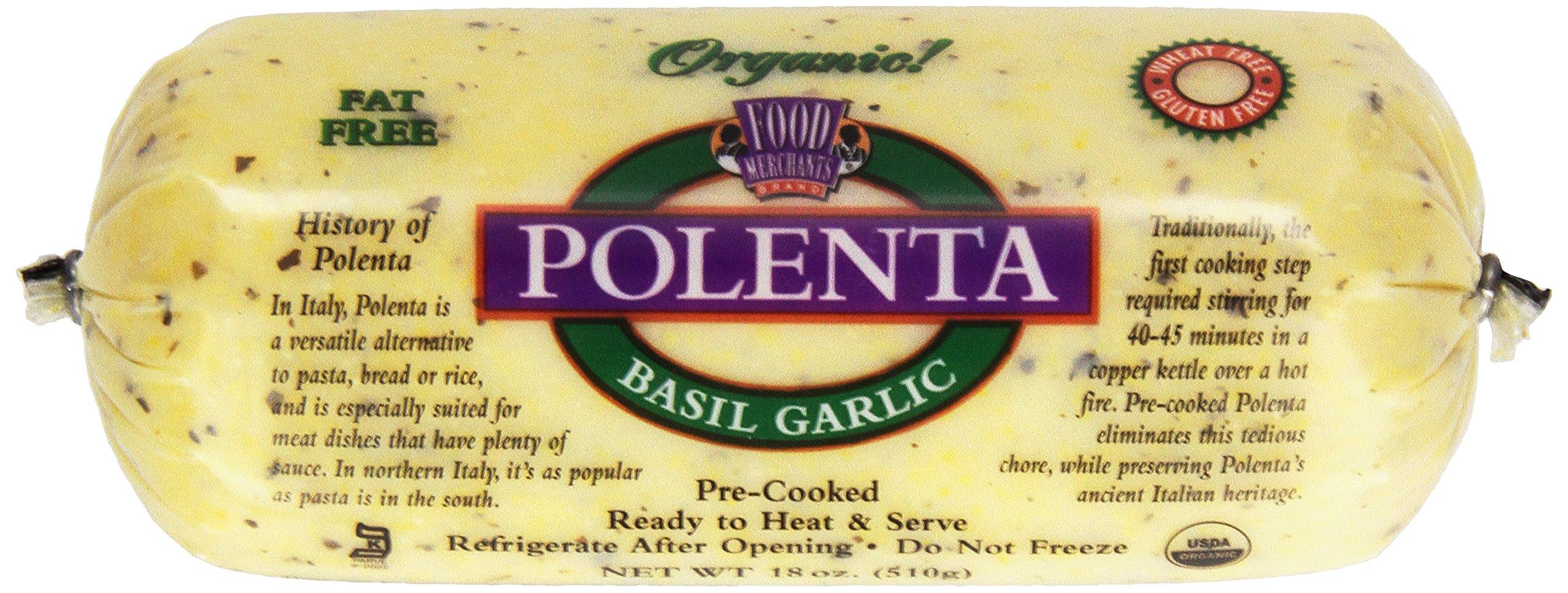 Food Merchants, Organic Polenta, Garlic Basil, 18 oz Sleeve