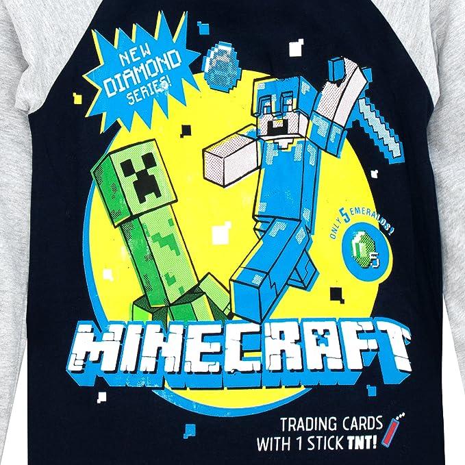 Minecraft - Camiseta de Mangas largas para niño  Amazon.es  Ropa y  accesorios e4056643d4e94