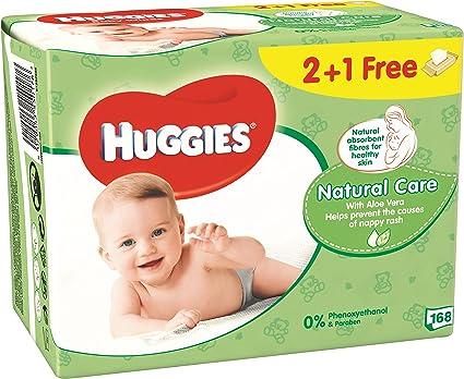 HUGGIES Natural care toallitas para BEBÉs pack 192 uds: Amazon.es ...