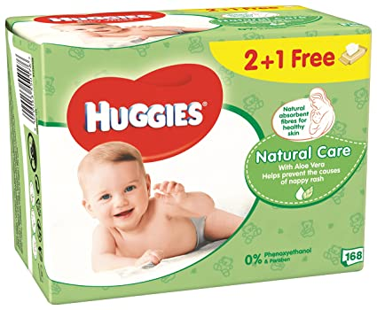 Huggies Natural Care Toallitas para Bebé - 3 Unidades