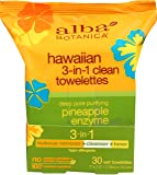 Alba Botanica Hawaiian, 3-In-1 Clean Towelettes, 30 Count