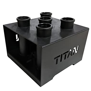 TITAN FITNESS Deluxe Olympic Barbell 5 Bar Holder Vertical Storage Rack 12 x12
