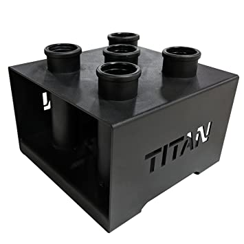 "Titan Fitness Pesas olímpico Deluxe 5 Bar Rack de Almacenamiento Vertical Holder 12 ""x12"