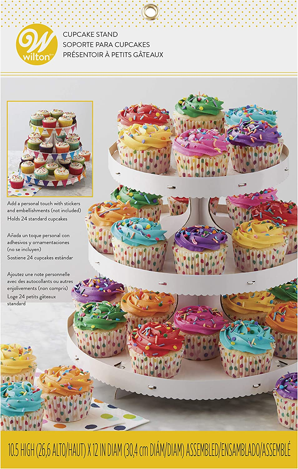 Wilton 1512-0726 Treat Stand Color Wheel Cupcake Stand