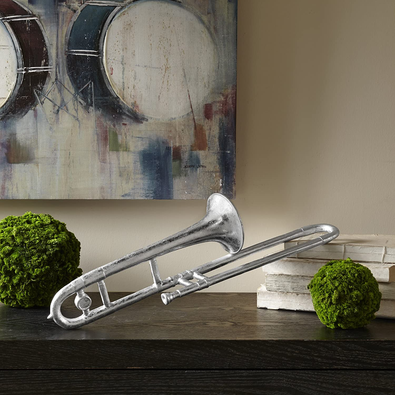 Silver Madison Park Trombone Decor