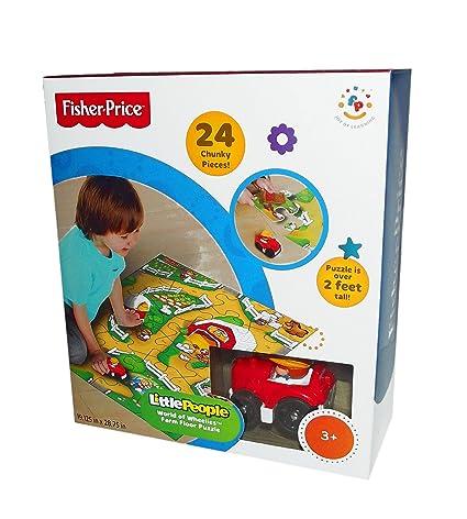 Little People World Of Wheelies Activity Floor Puzzle Zoo 24 Big Pieces Fun G... Sonstige