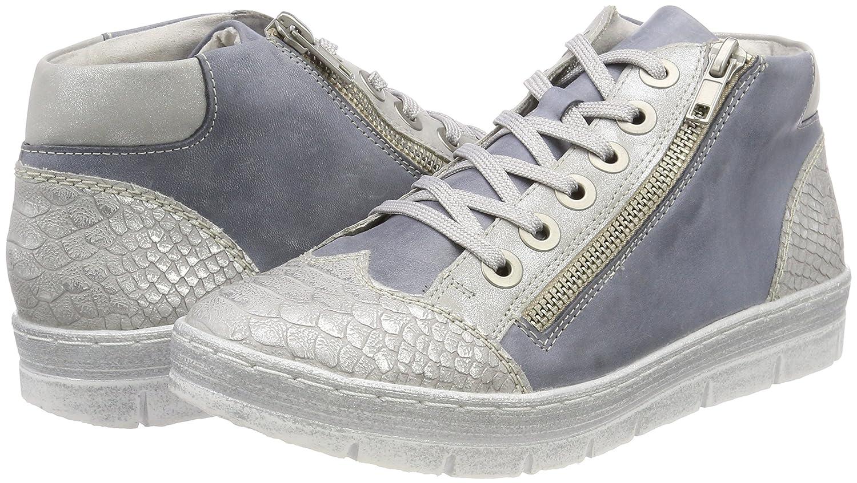 Remonte Damen D5873 Sneaker Hohe Sneaker D5873 Blau (Shark/Jeans/Silber) 7465b2
