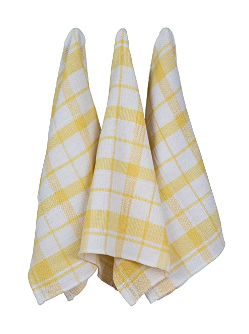 100% Cotton Waffle Weave Kitchen Hand Towel Dish Towels Tea Towels  50cmx70cm 6 Pack Blue