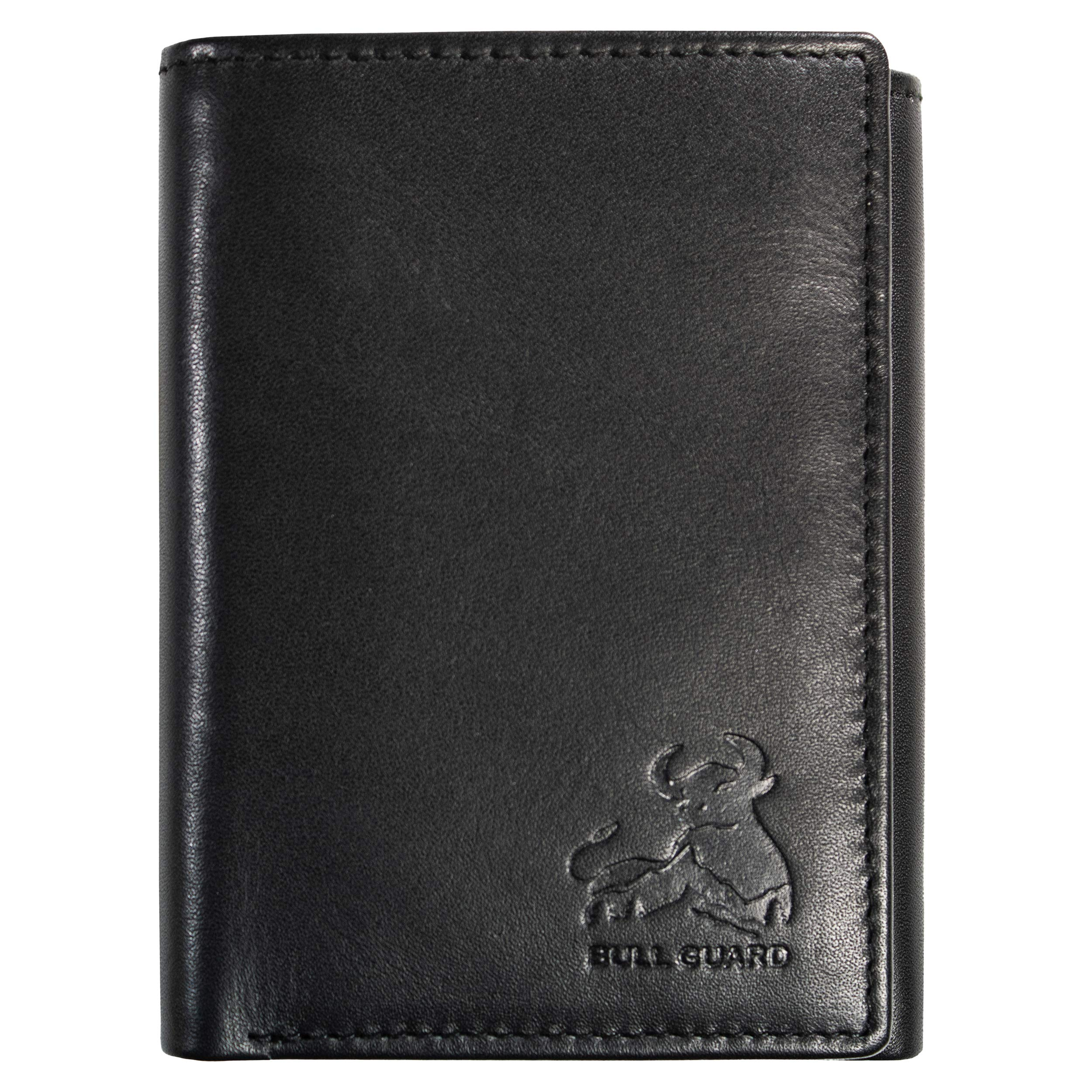 Bull Guard Genuine Nappa Leather Trifold Wallet For Men RFID And ID Window by BULL GUARD