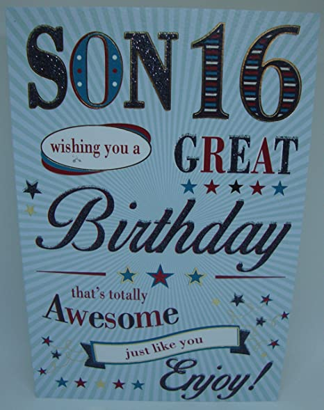 Loving Words Son 16th Birthday Card Lovely Verse Amazon