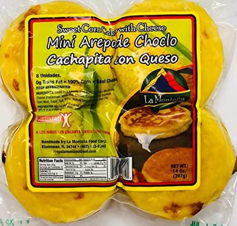 Arepas Colombianas Mini Arepa De Choclo Con Queso Sweet Cakes De Maiz Con Queso Amazon Com Grocery Gourmet Food