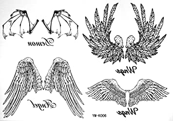 Amazoncom Angel Tempoary Tattoos Waterproof Tattoo Stickers For
