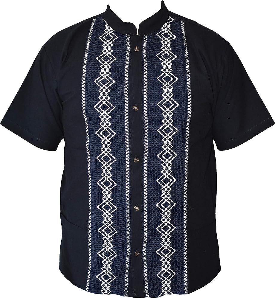 JRStoreMX Camisas mexicanas de Guayabera para Hombres, tamaños, Fabricado en México - Azul - Small: Amazon.es: Ropa y accesorios