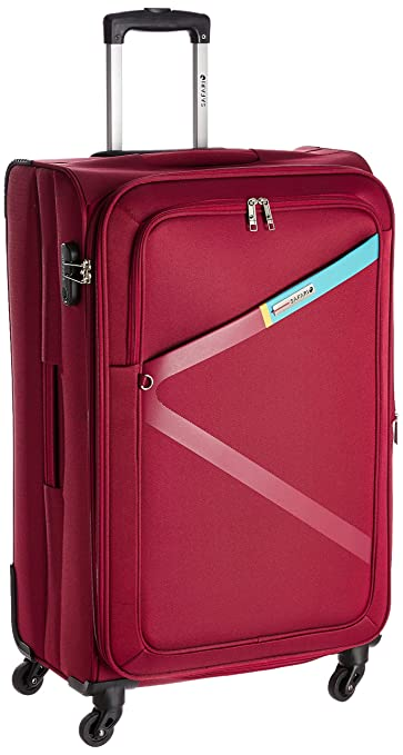 Safari Polyester 74.5 cms Red Softsided Suitcase (Greater-4wh-75-Red)