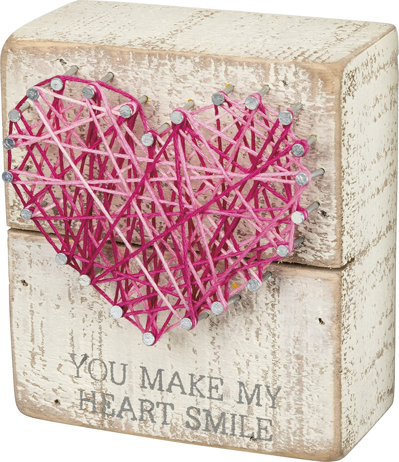 Primitives by Kathy String Art Box Sign, 3.5 x 4-Inches