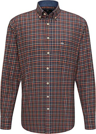 FYNCH-HATTON Camisa de franela a cuadros para hombre.: Amazon ...