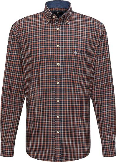 FYNCH-HATTON Camisa de franela a cuadros para hombre ...