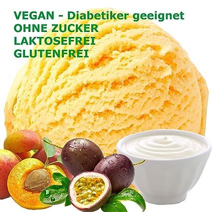 1 Kg Joghurt Pfirsich Maracuja Geschmack Eispulver Vegan Ohne