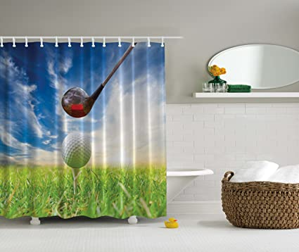 Golf Masculine Sports Clubs Decor Field Home Bathroom Accessories Man Cave Wall Art Sport Fathers Day