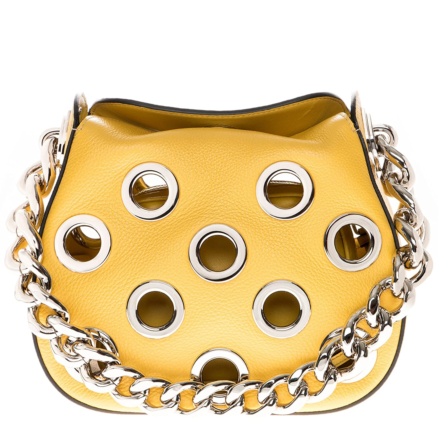 b90d192ab4 Amazon.com  Prada Women s Top Chain Handle Grommet Rounded Bag Yellow   Clothing