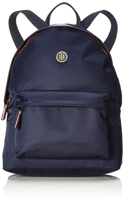 Tommy Hilfiger - Poppy Backpack, Mochilas Mujer, Blau (Tommy Navy), 13x40x30