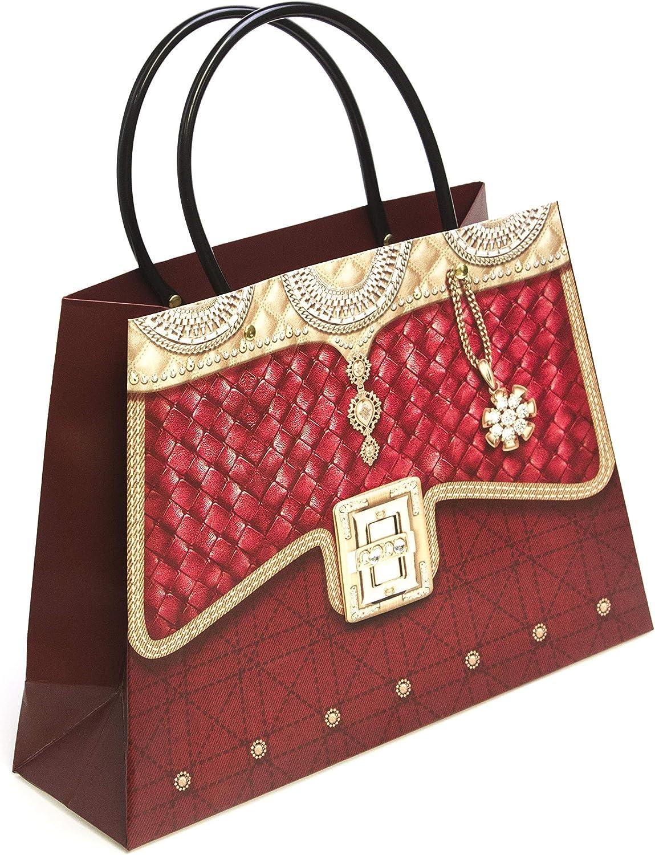 dekorative Handtaschen-Party-Stil Sole Favors Geschenkt/üte aus Papier mit Kunststoffgriff verschiedene Farben rose