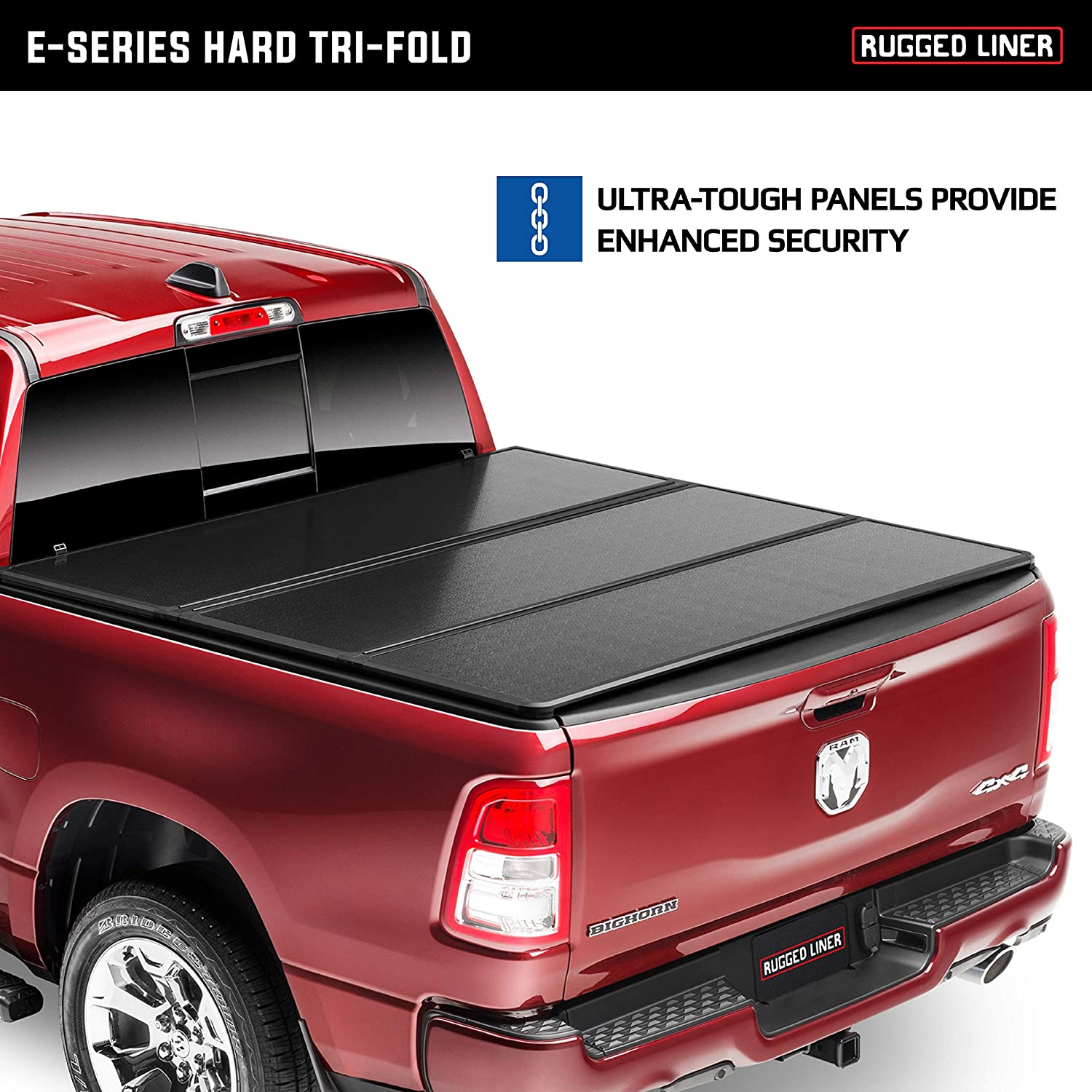 Amazon Com Rugged Liner E Series Hard Folding Truck Bed Tonneau Cover Eh Tun5514 Fits 2014 2021 Toyota Tundra With Or W O Utility Track 5 7 Bed 66 7 Automotive