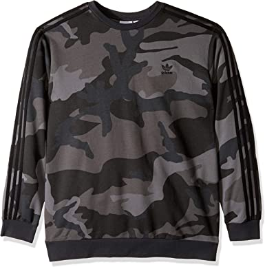 Rrive Mens Crewneck Classic Long Sleeve Camouflage Print Pullover Sweatshirt