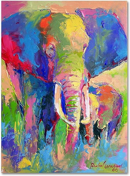 Amazon Com Elephant 1 By Richard Wallich 24x32 Inch Canvas Wall Art Posters Prints