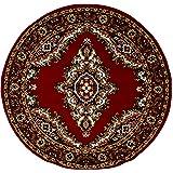 Lalee  347052134  Klassischer Teppich / Orientalisch / Rot / TOP Preis / Grösse : 120 x 120 cm RUND