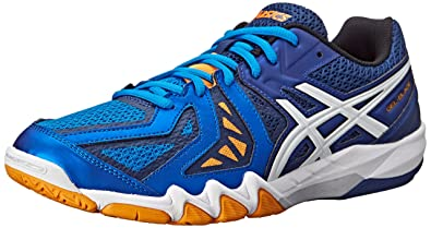ASICS Men's Gel-Blade 5 Indoor Court Shoe, Electric Blue/White/Navy