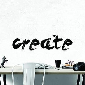 My Vinyl Story Create Inspirational Wall Decal Motivational Office Decor Quote Creative DIY Inspired Motivated Positive Wall Art Class Vinyl Sticker Wall Decal School Classroom Decor
