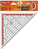 MAPED - Equerre géométrique Technic, avec poignée amovible, hypoténuse:260 mm
