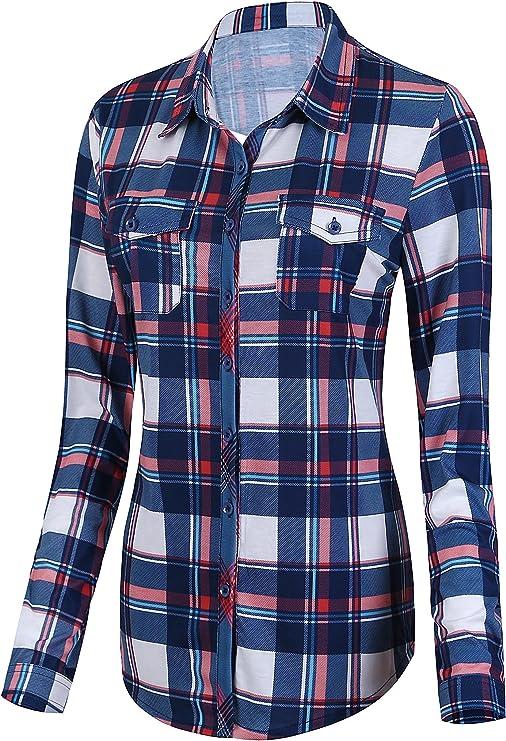 M-5XL Damen Kurzarm T-Shirt Bluse Kariert Plaid Tartan Lose Top Minikleid Hemd
