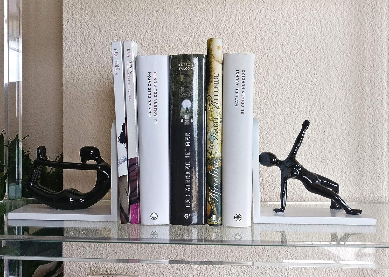 Organizzatore per Mensole Scaffale Libreria Ufficio E Scrivania Set di Figure Femminili per Regalo Donna. Percilun Fermalibri Decorative 2 Reggilibri Yoga Pilates Supporto per Libri