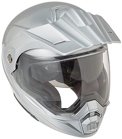 ScorpionEXO Unisex-Adult Modular/Flip Up Adventure Touring Motorcycle Helmet (Hyper Silver,