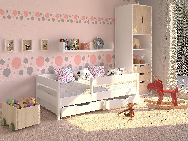 Möbel Concept - Kinderbett 200 x 90cm mit Schubladen auf Rollen und Matratze