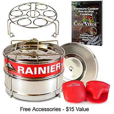 RAINIER Stackable Instant Pot Pressure Cooker S...