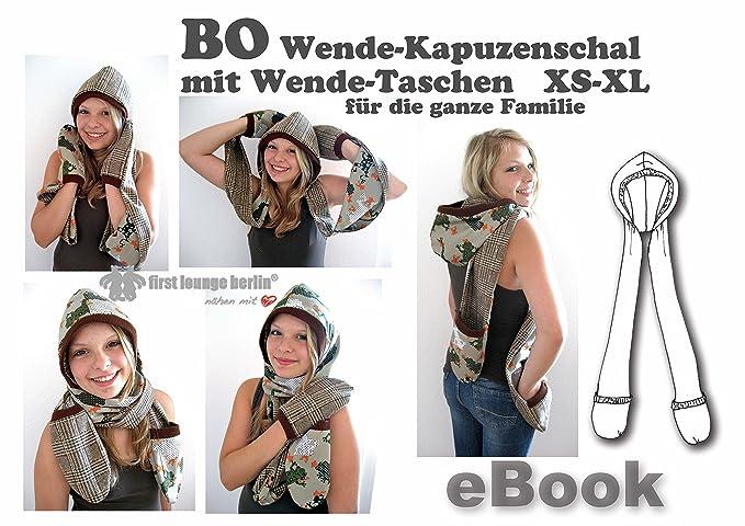 BO Nähanleitung mit Schnittmuster auf CD für Wende-Kapuzenschal mit ...